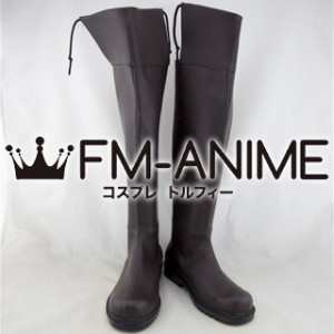 Attack on Titan Corps Military Uniform Cosplay Shoes Boots (Dark Brown)