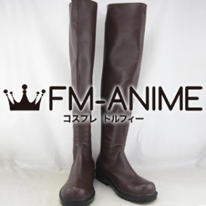 Attack on Titan Corps Military Uniform Cosplay Shoes Boots (Brown, Comic Version)