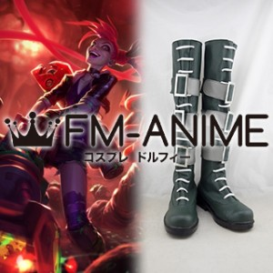 League of Legends Slayer Jinx Skin Cosplay Shoes Boots #D245