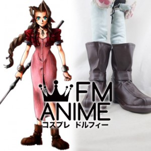 Final Fantasy VII Aerith Cosplay Shoes Boots #D261
