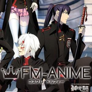 D.Gray-man Hallow Yu Kanda The Black Order Military Uniform Cosplay Costume Coat Cloak Cape