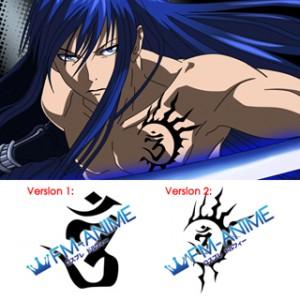 D.Gray-man Yu Kanda Cosplay Tattoo Stickers