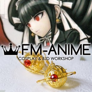Danganronpa: Trigger Happy Havoc Celestia Ludenberg Gold Saturn Earrings Cosplay Accessory