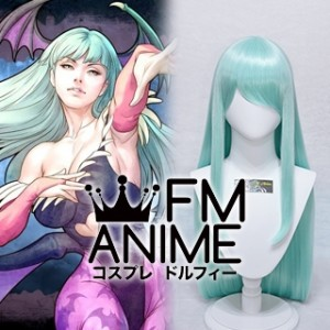 Darkstalkers Resurrection Morrigan Aensland Cosplay Wig