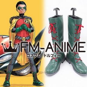 DC Comics Robin Damian Wayne Cosplay Shoes Boots