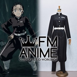 Demon Slayer: Kimetsu no Yaiba Tanjiro Zenitsu Kisatsutai Black Military Uniform Cosplay Costume