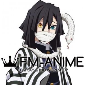 Demon Slayer: Kimetsu no Yaiba Obanai Iguro Cosplay Wig