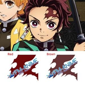 Demon Slayer: Kimetsu no Yaiba Tanjiro Kamado Scar Cosplay Tattoo Stickers