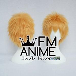 Short Spike Style Mixed Orange Cosplay Wig