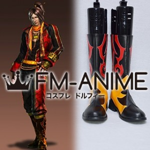 Dynasty Warriors 6 Ling Tong / Ryou Tou Cosplay Shoes Boots