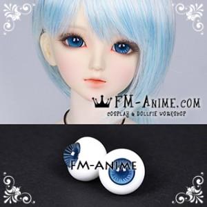 16mm Steel Blue Whtie Stripe & Indigo Blue Pupil BJD Dolls Glass Eyes Eyeballs Accessories