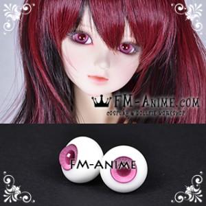 16mm Taffy Pink Spiral & Dark Pink Pupil BJD Dolls Glass Eyes Eyeballs Accessories
