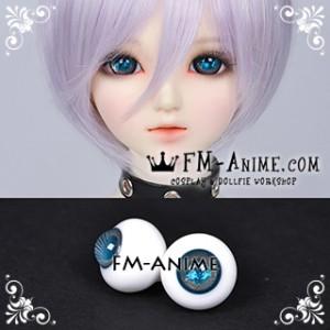 16mm Space Blue Gold Spiral & Shiny Pupil BJD Dolls Glass Eyes Eyeballs Accessories