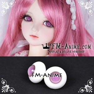 16mm Light Purple & Lavender Pink Pupil BJD Dolls Glass Eyes Eyeballs Accessories