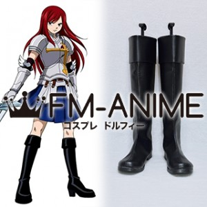 Fairy Tail Erza Scarlet Cosplay Shoes Boots