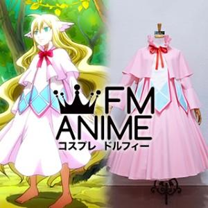 Fairy Tail Mavis Vermillion Pink Dress Cosplay Costume