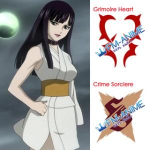 Fairy Tail Ultear Milkovich Grimoire Heart / Crime Sorciere Cosplay Tattoo Stickers