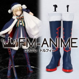 Fate/Grand Order Artoria Pendragon Santa Alter Saber Christmas Suit Cosplay Shoes Boots