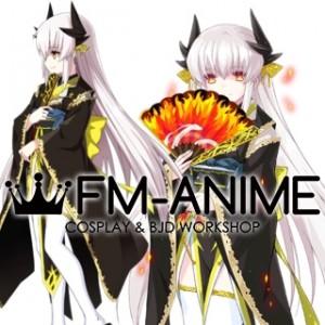 Fate/Grand Order Kiyohime Stage 3 Black Kimono Cosplay Costume