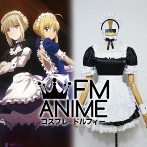 Fate/hollow ataraxia Saber Alter Black Maid Version Cosplay Costume
