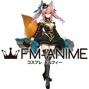 Fate/Extra Tamamo no Mae Caster Jet Black Mage Cosplay Costume
