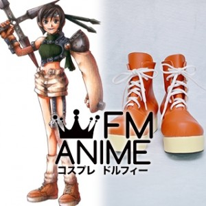 Final Fantasy VII Yuffie Cosplay Platform Shoes Boots