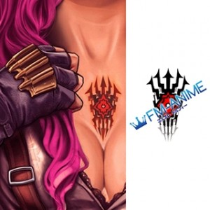 Final Fantasy XIII Lightning L'Cie Cosplay Tattoo Stickers