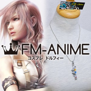 Final Fantasy XIII Lightning Metal Necklace Cosplay Accessories Prop