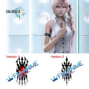 Final Fantasy XIII Serah Farron Cosplay Tattoo Stickers