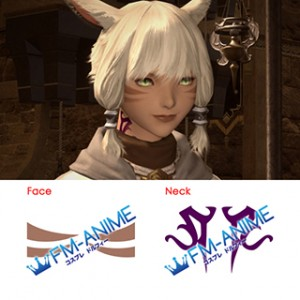 Final Fantasy XIV Y'shtola Rhul Cosplay Tattoo Stickers