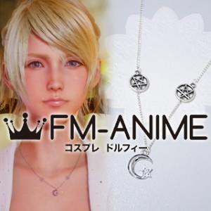 Final Fantasy XV Lunafreya Nox Fleuret Necklace Star Moon Metal Cosplay Accessories