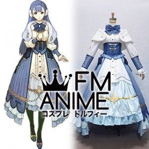 Fire Emblem Echoes: Shadows of Valentia Rinea Blue Dress Cosplay Costume