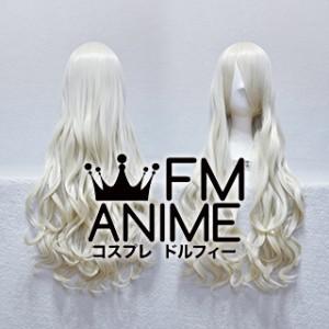 Medium Length Wavy Mixed Light Gold Cosplay Wig