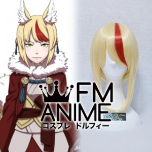Fire Emblem Fates Selkie / Kinu Red Highlight Cosplay Wig