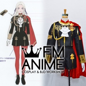 Fire Emblem: Three Houses Edelgard von Hresvelg Military Uniform Cosplay Costume