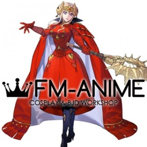 Fire Emblem: Three Houses Edelgard von Hresvelg After 5 Year Time Skip Red Dress Cosplay Costume