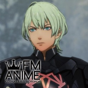 Fire Emblem: Three Houses Male Byleth Light Green Cosplay Wig