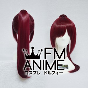 Medium Straight Ponytail Style Clips on Mixed Wine Red Cosplay Wig (60cm)