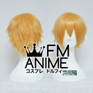 Short Spike Style Warm Light Orange Cosplay Wig #L1214