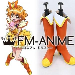 Fresh Pretty Cure! Yamabuki Inori Cure Pine Cosplay Shoes Boots