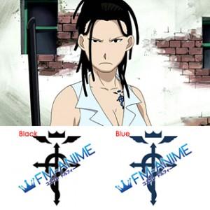 Fullmetal Alchemist Izumi Curtis Cosplay Tattoo Stickers