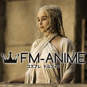 Game of Thrones Season 5, Episode 9 Daenerys Targaryen White Dress Cosplay Costume