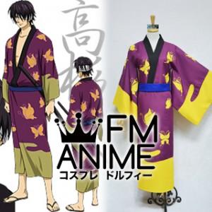 Gintama Shinsuke Takasugi Kimono Cosplay Costume (Anime Version)