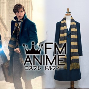 Harry Potter Fantastic Beasts and Where to Find Them Newt Scamander Woolen Coat Cosplay Costume