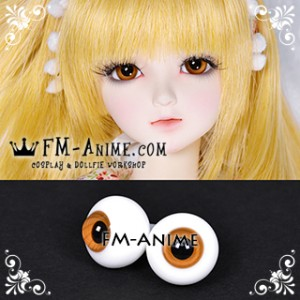 16mm Honey Orange Spiral & Black Pupil BJD Dolls Glass Eyes Eyeballs Accessories