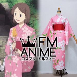 Hotarubi no Mori e Hotaru Takegawa Pink Kimono Cosplay Costume
