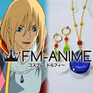 Howl's Moving Castle Howl Necklace & Earrings Cosplay Accessories