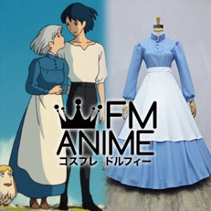 Howl's Moving Castle Sophie Blue Dress Cosplay Costume (Female S)
