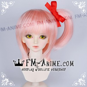 Shugo Chara! Amu Hinamori Light Pink Cosplay BJD Dolls Wig