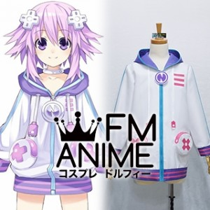 Hyperdimension Neptunia Neptune Jacket Coat Cosplay Costume